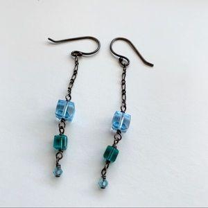 ✨ANTHROPOLOGIE Aqua Marine Blue Dangle Earrings